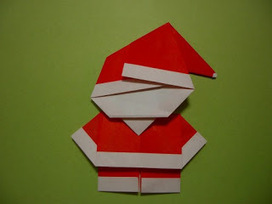 Parenting Times: Origami Santa Claus Craft For Kids | Totally Christmas! | Scoop.it