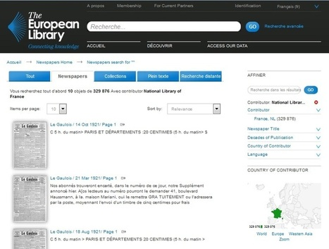 Europeana Newspaper : accéder à la presse numérisée en ligne | Presse a l'école | Scoop.it