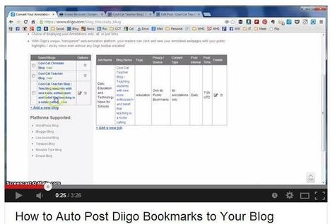 Automatically post bookmarks to your blog using Diigo | Bookmarks | Scoop.it