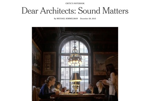 Dear Architects: Sound Matters | Interactive & Immersive Journalism | Scoop.it