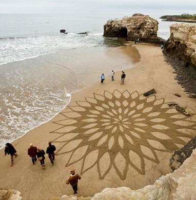 Beautiful Sand Drawings | Urban Design | Scoop.it