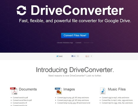 DriveConverter | File Converter for Google Drive | Time to Learn | Scoop.it
