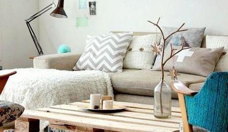 DIY deco : des palettes en bois deco transformées en lit, tête de lit... | Le bricolage et les loisirs créatifs par Maison Blog | Scoop.it