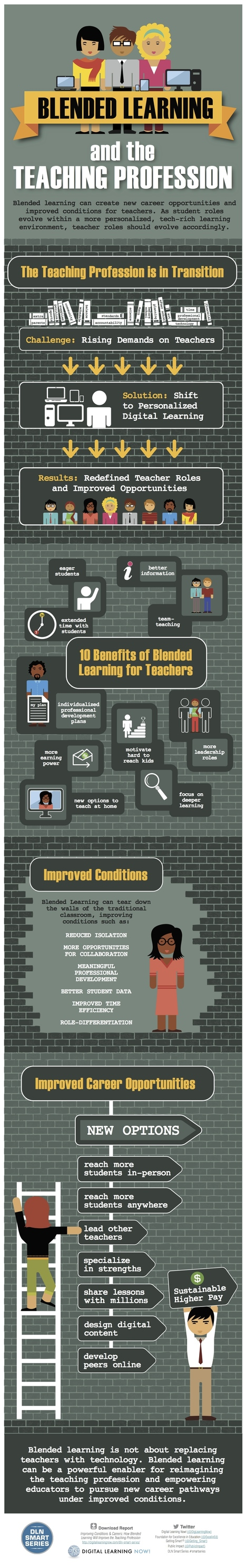 Blended Learning & The Teaching Profession [Infographic] | LilianaM | Scoop.it