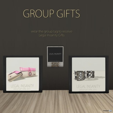 Trendy Clutch and Skull Bracelets April 2015 Group Gift by Legal Insanity | Teleport Hub - Second Life Freebies | Second Life Freebies | Scoop.it