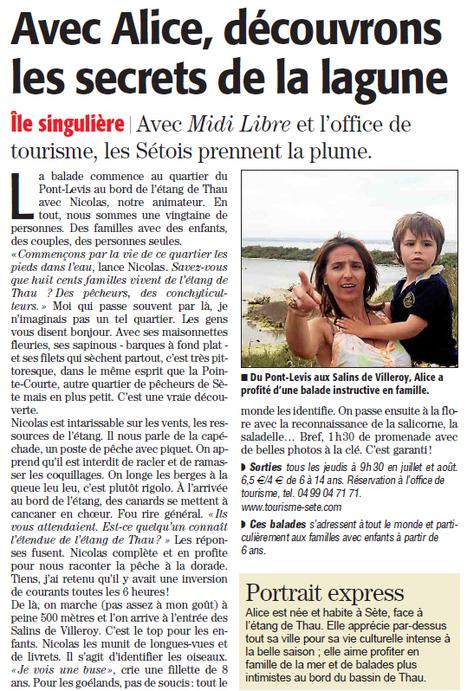 Visite Les secrets de la lagune | Sète Tourisme : les ambassadeurs-reporters sur le terrain | Scoop.it