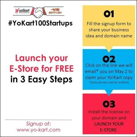 Mega Event #YoKart100startups Giving birth to 100 ecommerce startups for FREE - Yo! Success | internet marketing | Scoop.it