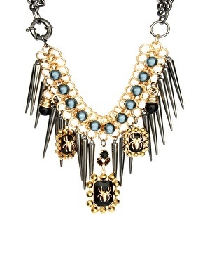 ASOS Premium Spider Jewel & Spike Necklace at asos.com | Jewlery | Scoop.it