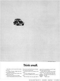 "Game-changing ads - ""Think Small"" - 1962 (1) - FORTUNE 