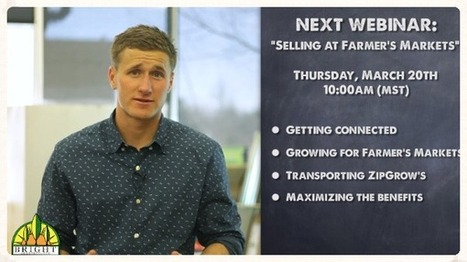 "Thursday's Webinar: ""Selling at Farmer's Markets"" 