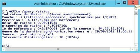 Activer le serveur NTP sur Windows Server 2012 | GTSUP- L'informatique avancée | Scoop.it