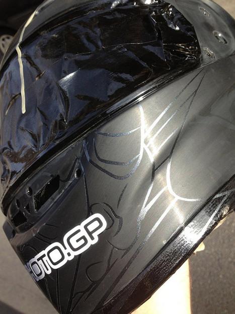 PHOTO.GP Helmet In Progress : Scott Jones | Ductalk Ducati News | Scoop.it