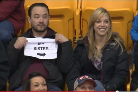 Brother, Sister End Up on 'Kiss Cam' | Awesomeness | Scoop.it