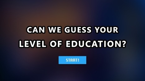 Can we guess your level of education?   Learning on the Fly   Scoop.it