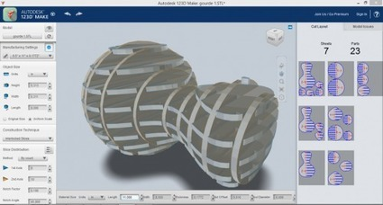 Prototypage [très] rapide : 123D Make d'Autodesk | Time to Learn | Scoop.it