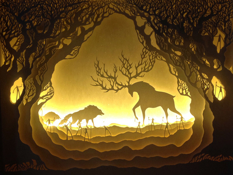 Paper Cut Light Boxes Illuminate Fantastical Fairy Tale Scenes | Fairy tales, Folklore, and Myths | Scoop.it