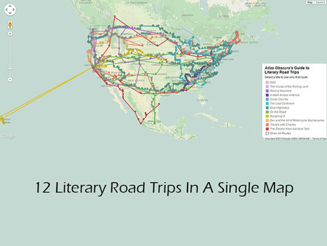 12 Literary Road Trips In A Single Map | ESL resource | ELT resources designed for building EFL-ESL lessons & courses | Scoop.it