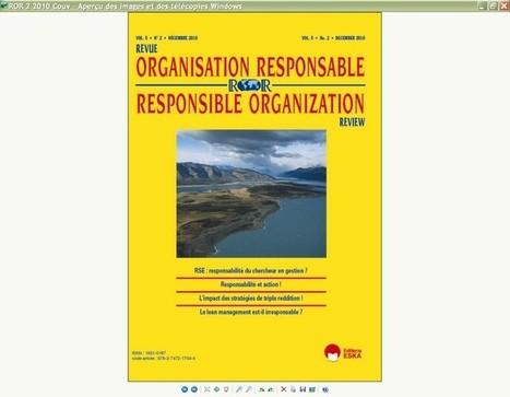REVUE DE L'ORGANISATION RESPONSABLE [1951-0187] - €83.00 : | Economic Development and social responsibility | Scoop.it