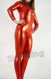 Red Shiny Metallic Catsuit Zentai [C20026] - $43.00 : Shop Zentai Suits Full Bodysuits And Catsuits From Zentaing.com | zentai catsuit lycra | Scoop.it