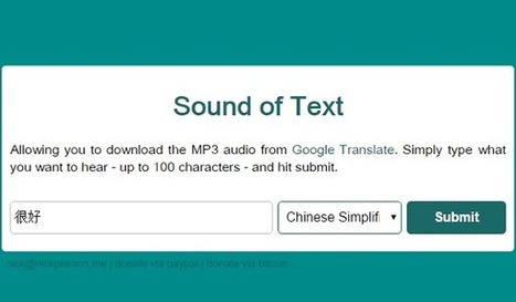Sound of Text | UKEdChat.com | Technology and language learning | Scoop.it