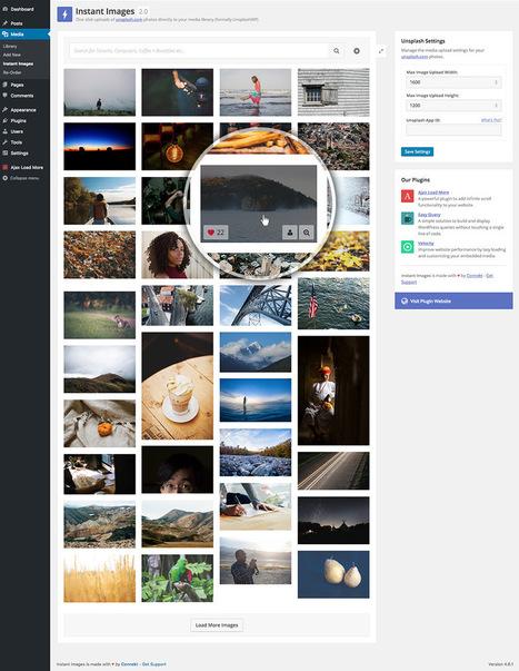 Charger directement dans wordpress via instant images des images de Unsplash en HD | Les belles ressources ! print - web - digital | Scoop.it