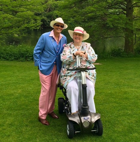 Rachel with Rheumatoid Arthritis continues to re-discover freedom after Palace Garden party thanks to folding Maximo mobility scooter | Disability and Mobility | Scoop.it