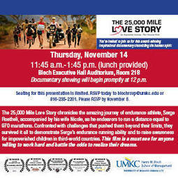 """Bloch School Showing Documentary """"The 25,000 Mile Love Story"""" on Nov. 14 - UMatters 