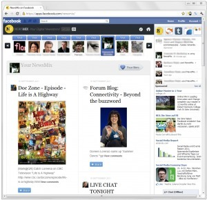 Facebook users get a Flipboard-like magazine with NewsMix | Social on the GO!!! | Scoop.it