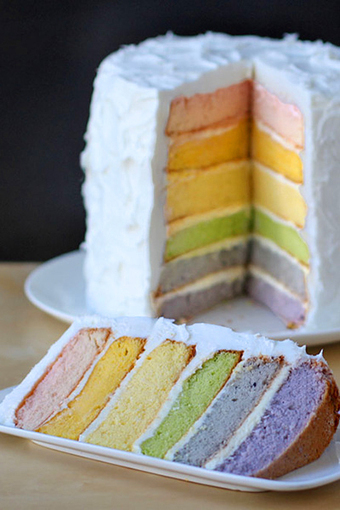 #Dessert #Recipe / Rainbow Layer Cake with Natural Food Coloring | The Man With The Golden Tongs Hands Are In The Oven | Scoop.it