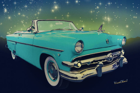 Sunliner From Ford Was Made for Date Night Saturday Night | VivaChas!  Hot Rod Art | Scoop.it