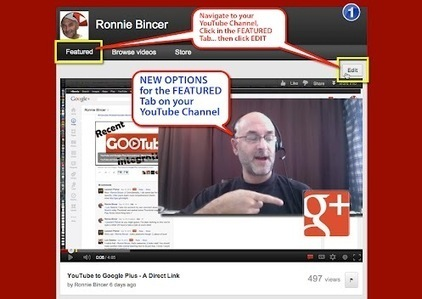 Ronnie Bincer - Google+ - YouTube Channel Featured Tab - NEW Options. | YouTube Tips and Tutorials | Scoop.it