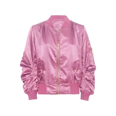 Lightweight Satin Shell Bomber Jacket | Celebrity Style | Scoop.it