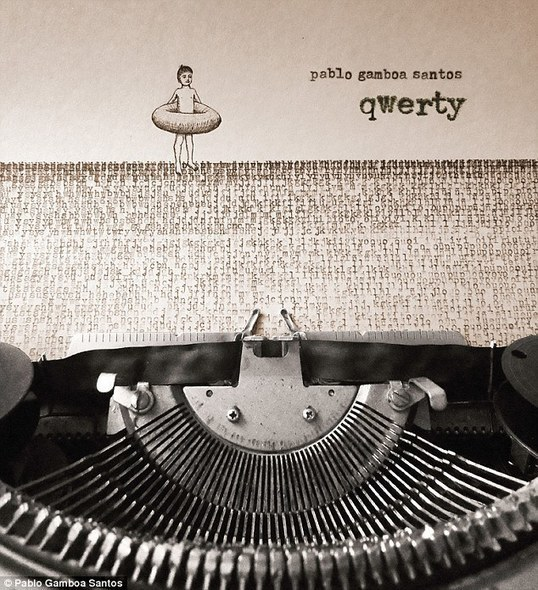ASCII Art - Artist uses typewriter to create illustration with overlapping letters
