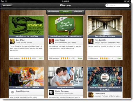 Udemy apuesta al aprendizaje móvil con su aplicación para el iPad.- | Educación, pedagogía, TIC y mas.- | Scoop.it