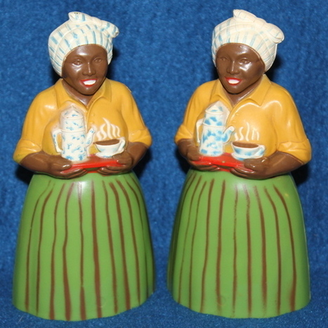 1950's F & F Luzianne Mammy Salt and Pepper Shakers - The Vintage Village | Vintage Passion | Scoop.it