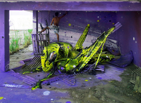 Artist 'Bordalo II' Brings Trash and Found Objects to Life on the Streets of Lisbon | [Art] - artist's point of view, creative process &  interesting pieces | Scoop.it