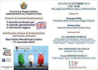 I vini italiani a Londra con la Provincia di Reggio Calabria   La Prima Pagina.it   Scoop.it