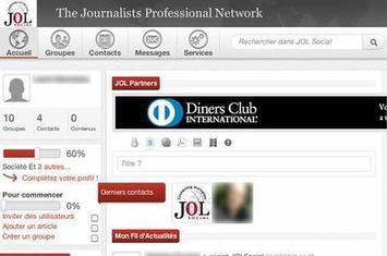 Avec «JOL Social», les journalistes ont leur propre réseau social   Solutions locales   Scoop.it
