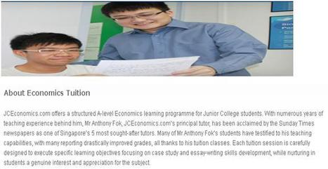 About Economics Tuition | JC Economics Tuition | Scoop.it