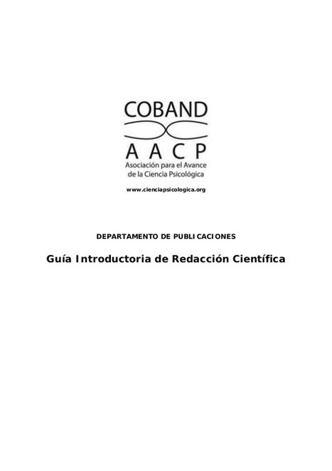 Guía Introductoria de Redacción Científica (AAP) | Universo Abierto | Educacion, ecologia y TIC | Scoop.it