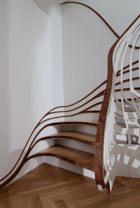 Banister-Bending Staircases take Handrails to New Heights | Art, Design & Technology | Scoop.it