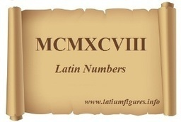 Large Latin Numbers 100 - 1000 *** | Latin.resources.useful | Scoop.it