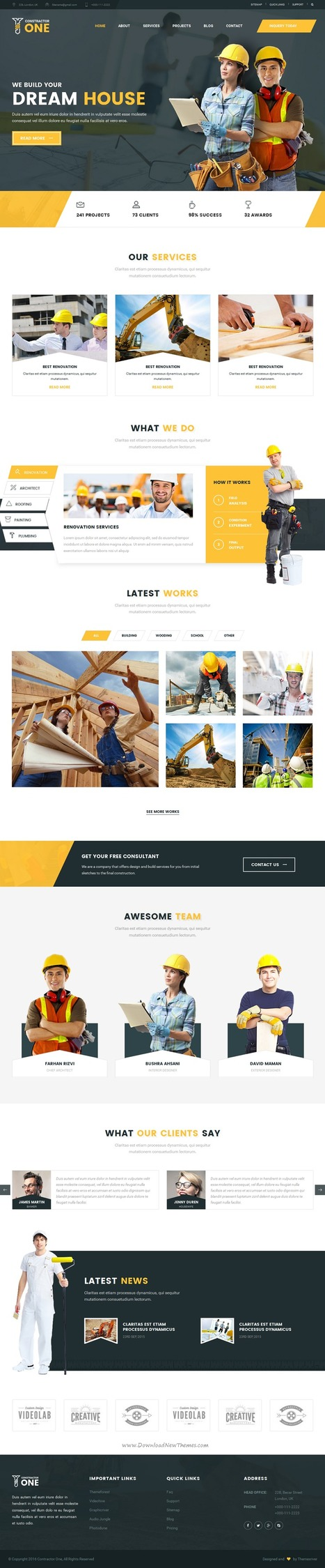 Constractor Best Construction & Home Renovation  Template Download | Creative Themes and Template Download | Scoop.it