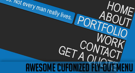 Awesome Cufonized Fly-out Menu with jQuery and CSS3 | Codrops | Incursionando en el Diseño Web | Scoop.it
