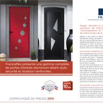 C - La gamme de portes d'entrée aluminium de Franciaflex alliant style, sécurité et isolation renforcées. | Décoration | Scoop.it