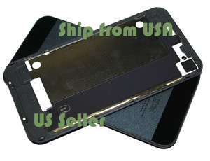 Black GSM AT&T iPhone 4 4G GLASS Battery Door Back Cover w/ iPhone 5 Style | iphone4s back cover iphone5 style | Scoop.it