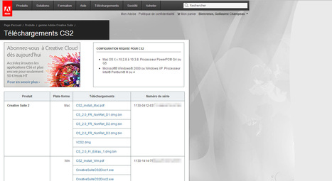 Photoshop CS2 (et autres Creative Suite 2) offert par Adobe !   Outils, logiciels et tutos : de la curiosité à l'indispensable   Scoop.it
