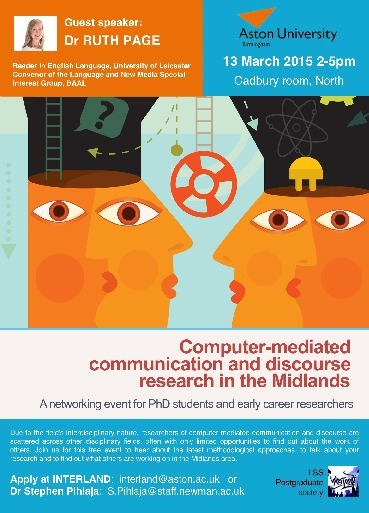Event: Computer-mediated communication and discourse research. 13th March, Aston University | Language, society and law | Scoop.it