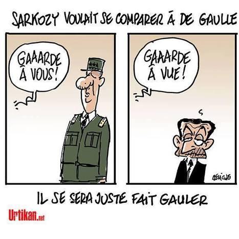 Dessin de presse: Sarkozy voulait se comparer à De Gaulle   Dessins de Presse   Scoop.it