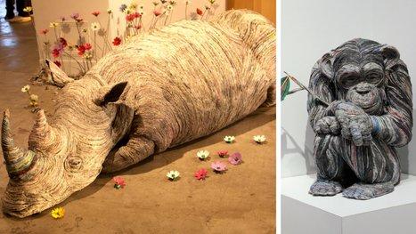 Comment donner vie à du papier journal ? Réponse en 11 sculptures signées Hitotsuyama. | Sélections de Rondement Carré sur                                                           la créativité,  l'innovation,                    l'accompagnement  du projet et du changement | Scoop.it